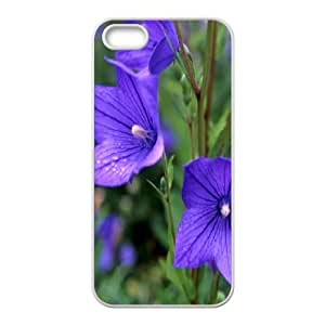 iPhone 5,5S Cases Purple Lily, iPhone 5,5S Cases Lily Protector For Girls, [White]