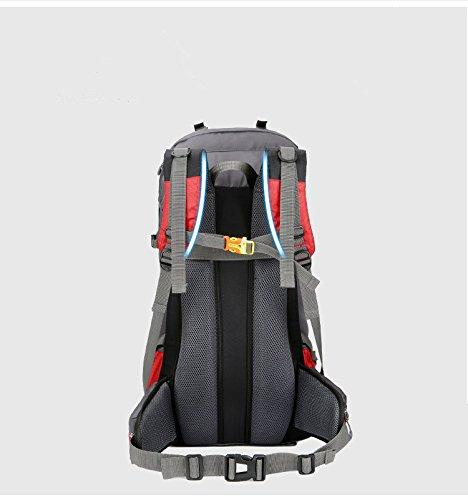 Wandernder Rucksack 60L, der kampierenden Rucksack für Sporttasche etc., freies Verschiffen wandert schwarz