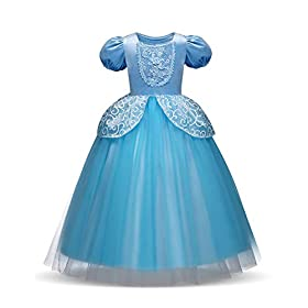 - 41jYRilofGL - Children Princess Dress Up Costume Cosplay Dress for Girls Toddlers Party Birthday Girls Dresses Wonderful Gift