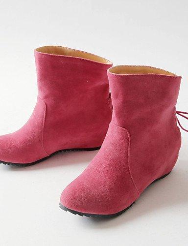 Eu36 Negro Moda Vestido Punta Cn36 Gris Casual De Botas Xzz Tacón Cuñas us6 Rosa Redonda Zapatos Mujer Pink Cuña Uk4 La A Vellón xRCCqWZwP