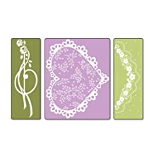 Sizzix Textured Impressions Embossing Folders 3-Pack, Scallop Heart Doily Set by Debi Adams