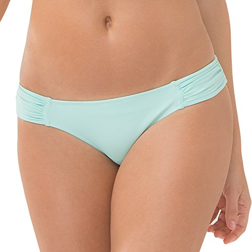 Smart & Sexy Women's Swim Secret Side Ruched Bikini Bottom, Mint Chip, XL