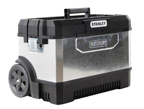Stanley 195828 Verzinkte Werkzeugtruhe mit Rollen, 66 cm