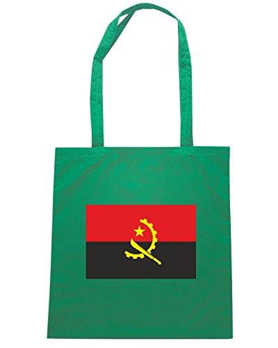 T-Shirtshock - Bolsa para la compra TM0156 Angola flag Verde