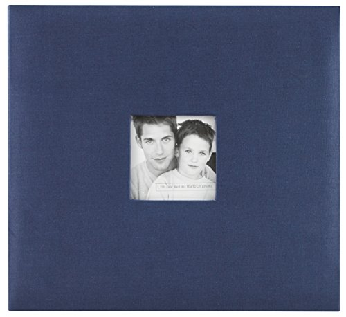 MCS MBI 13.5x12.5 Inch Fashion Fabric Scrapbook Album with 12x12 Inch Pages with Photo Opening, Blue -