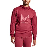 Mission Men's VaporActive Gravity Pullover Hoodie, Tibetan Red, X-Large