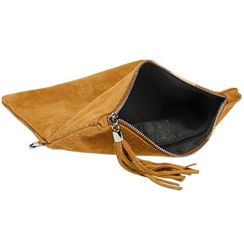 enveloppe Cognac sac de femme métallisé TL773 CASPAR daim pour clutch Pochette soirée en wqRB7xAOX