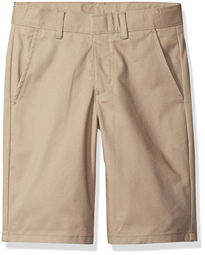 Nautica Big Boys' Uniform Flat Front Twill Short, Khaki, Large/14