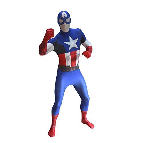 Medium Captain America Zapper Official Morphsuit by fancy dress warehouse