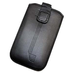 Duragadget-Funda de piel sintética con tapa para Samsung Chat s3350 L