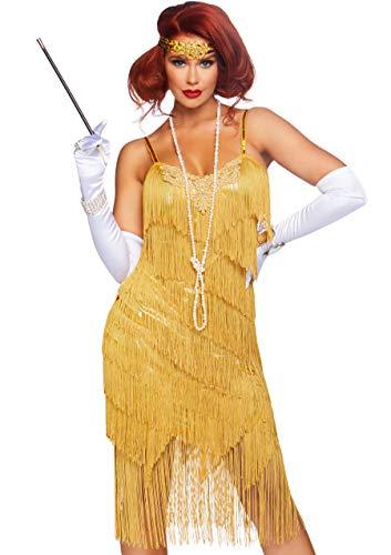 Leg Avenue Women's 2 Pc Dazzling Daisy Costume, Gold, Large -