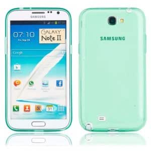 Transparent TPU Protective Case for Samsung N7100 Transparent Light Blue