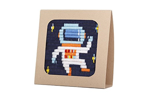 Sozo - Colorful DIY Needlepoint Embroidery Craft Kit for Beginners. Eco Friendly Package That Turns into a Display Frame, Easier Than Cross Stitch. Size - 8