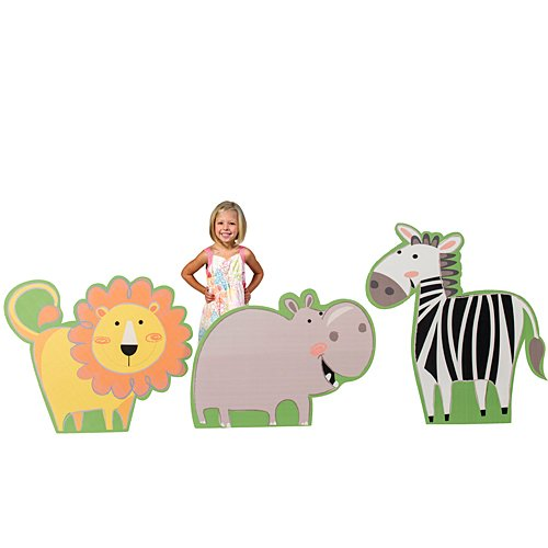 Jungle Buddies Animal Cardboard Standee Set Standup Photo Booth Prop Background Backdrop Party Decoration Decor Scene Setter Cardboard Cutout