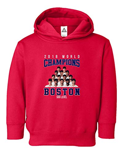 Boston Baseball 2018 World Champions Little Kids Hoodie Toddler Sweatshirt (Red, 2T)
