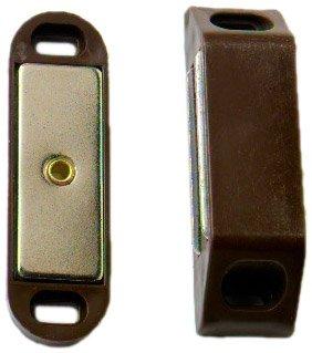 Bulk Hardware BH00393 Chiusure Magnetiche per Ante di Armadi, Forza di Trazione 8 Kg, 63 x 18 mm, Marrone, Set di 2 Bulk Hardware Limited