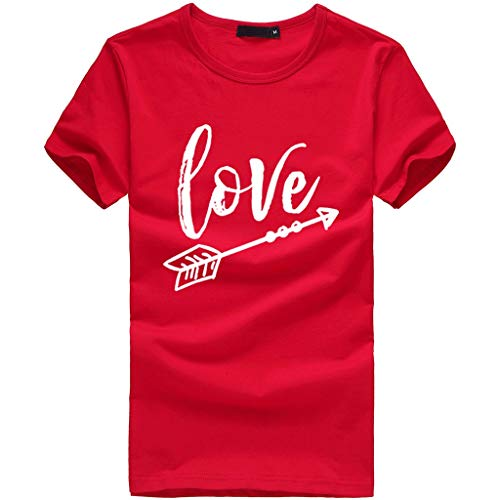 Lloopyting 2019 Trend Wild Print Women's T-Shirt Large Size Casual Short-Sleeved Shirt Red