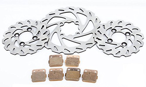 2000 Yamaha YFZ350 350 Banshee Front & Rear RipTide Brake Rotors and Brake Pads
