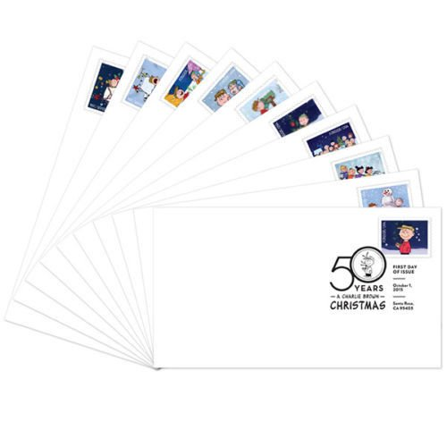 Charlie Brown Christmas USPS First Day Cover - Set of - Days Usps
