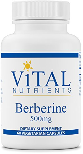 Vital Nutrients - Berberine 500 mg - Supports Regular and Normal Bowel Function - 60 Capsules