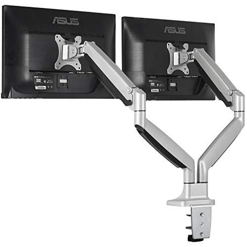 (EleTab Dual Monitor Mount Stand Full Motion Swivel Fits for 2 Computer Screens 13