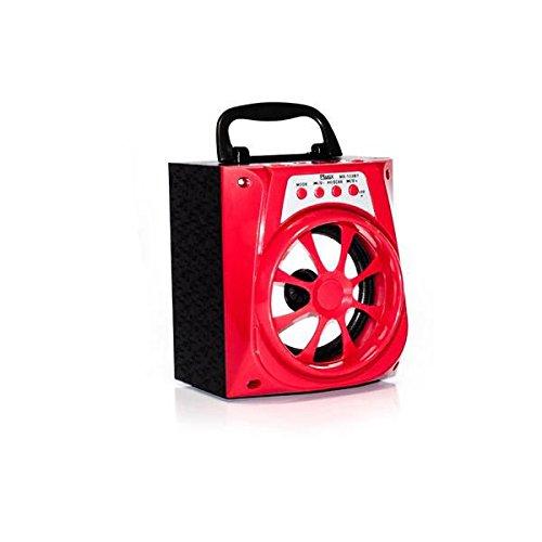 Caixa de Som Bluetooth 8W RMS P2 SD CARD USB FM MS-133BT Vermelho