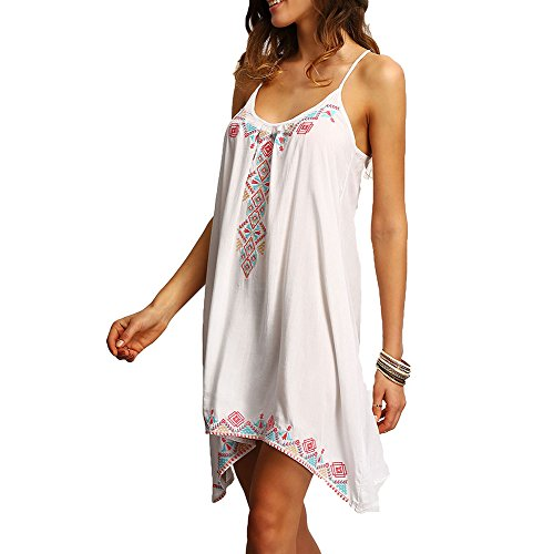 Mujer Sexy Beach Plus Summer Clothing Juleya Boho Blanco Vestido Casual Robe Impreso Style Femme Size qZYv1Bx