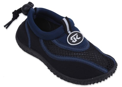 New Starbay Brand Kid's Navy & Black Athletic Water Shoes Aqua Socks Size 4