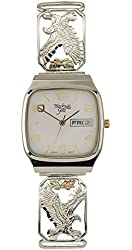 Black Hills White Dial Mens Silver Eagle Date Display Watch 9-WB45-GS