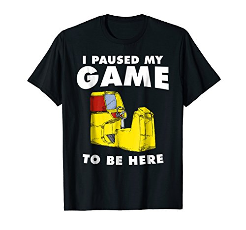 I Paused My Game To Be Here T Shirt Retro Video Gamer Gift