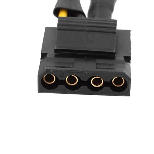 DealMux 35 polegadas 4 Pin Famale Para 3X LP4 Female Power Adapter Preto Cabo by DealMux (Image #1)