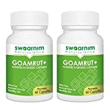 Cow Urine Capsule - Goamrut Capsule Pack of 60 (Min. 2 pack) - GMP Certified - Ayurvedic Proprietary Medicine - Herbal Supplement - General tonic - Immunity Enhancer - Vaat - Pit - Kaf - Gomutra Capsu