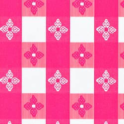 Classic Series Vinyl Tablecloth Check, Red/White 52