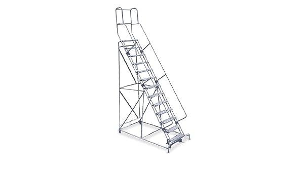 Cotterman 1513R2642A3E30B4C1P3 - Escalera enrollable de 13 pasos, serrado, 172 de altura total, 450 lb Capacidad de carga: Amazon.es: Bricolaje y herramientas