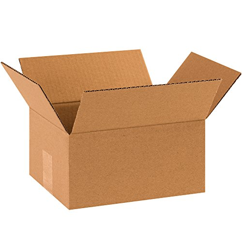 """Partners Brand P1085 Corrugated Boxes, 10""""L x 8""""W x 5""""H, Kraft (Pack of 25) from Partners Brand"""