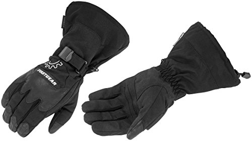 (FirstGear Explorer Men's Waterproof Street Motorcycle Gloves - Black - Medium)