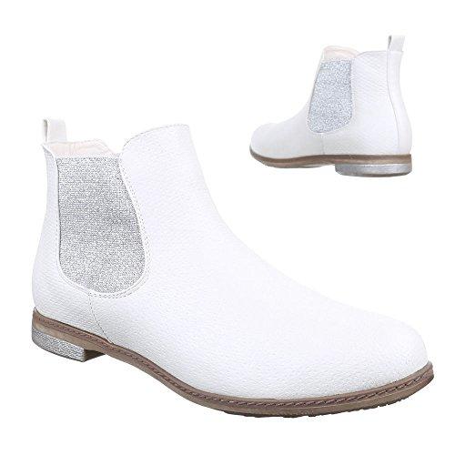 Ital-Design - Botas Chelsea Mujer blanco