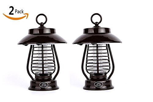 Marcobrothers 2 Pack Insect Pest Bug Zapper Light Solar Mosquito Killer LED Light For Outdoors Yard by Marcobrothers