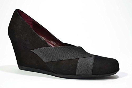 Melluso Decolte' zeppa nero scarpe donna Y5042