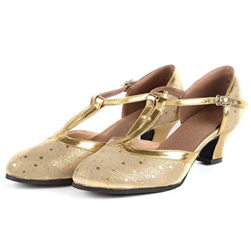 Des Mädchens Der Frauen Professional Latin Schuhe Obermaterial Satin Sandalen Salsa / Ballroom Dance Schuh Med (weitere Farben),Silver-38