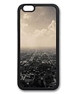 Cloudy Suburbs City Protective Soft & Smooth TPU Back Fits Cover Case for iphone 6 Plus 5.5-1122003