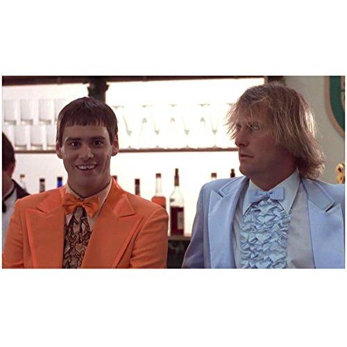 Dumb & Dumber (1994) 8inch x 10inch Photo Jim Carrey Orange Tux w/Jeff Daniels Blue Tux at Bar kn (Dumb And Dumber Orange Tux)