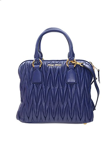 e9c35588f84c Miu Miu Tote Bag in Blue Matelasse Sheepskin Leather RL0097 F0021 W41 - Buy  Online in UAE.