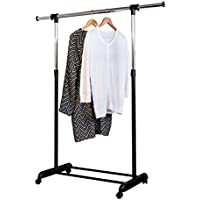 Honey-Can-Do GAR01124 Expandable Garment Rack (Chrome / Black)