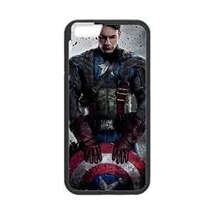 Captain Americ iPhone 6 Plus 5.5 Inch Cell Phone Case Black TPU Phone Case SV_190619