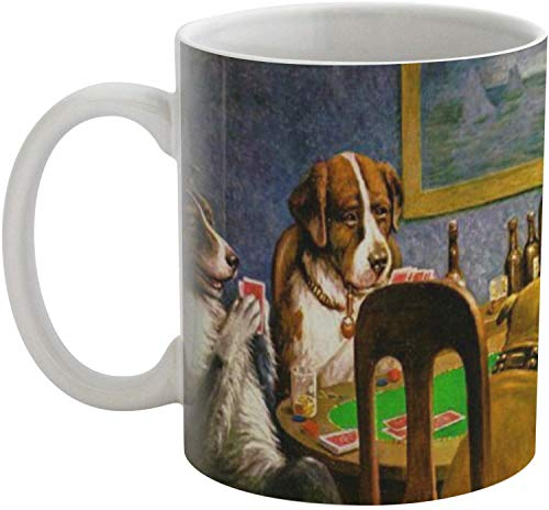 (Dogs Playing Poker 1903 C.M.Coolidge Coffee Mug)