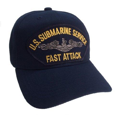 "Submarine Service Veteran Hat ""Fast Attack"" Dark Blue Ball Cap"