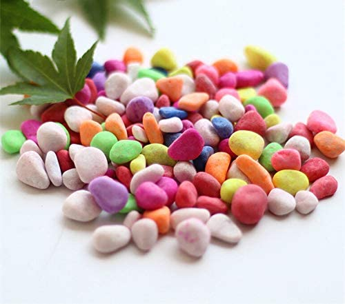 shun yi - Piedras Decorativas para jarrones de Colores Que Brillan en la Oscuridad, Grava Pulida para Exteriores, Acuario, Paisaje, jarrón, Rellenos, Color Stone 2lb: Amazon.es: Jardín