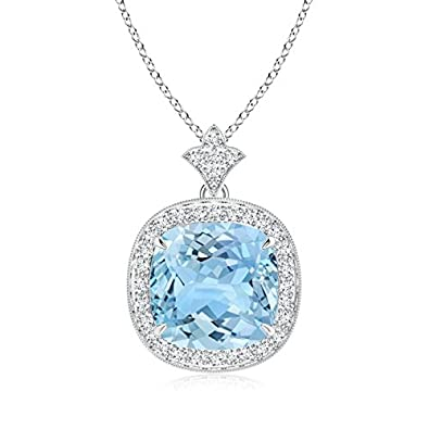 Amazon gifts for mom claw set aquamarine diamond pendant amazon gifts for mom claw set aquamarine diamond pendant necklace for women with milgrain detailing in platinum 10mm aquamarine jewelry aloadofball Image collections