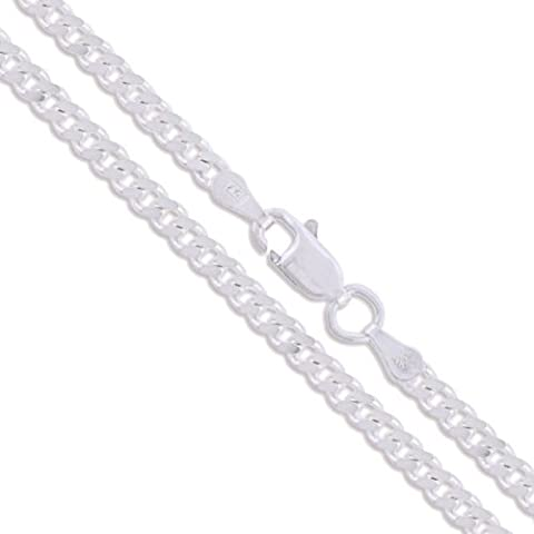 Sterling Silver Curb Chain 2mm Solid 925 2 Sided New Necklace 20